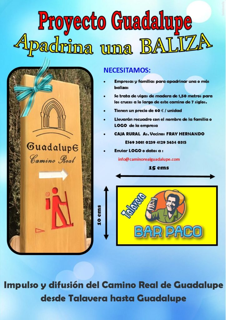 Apadrina el Camino Real Guadalupe